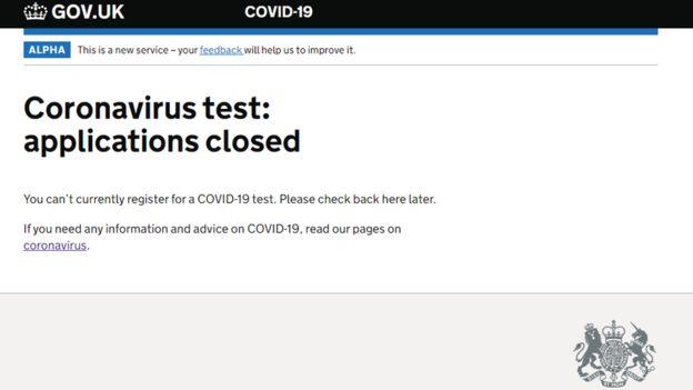 英国开通新冠病毒检测网上预约 结果上线几小时后就关闭了