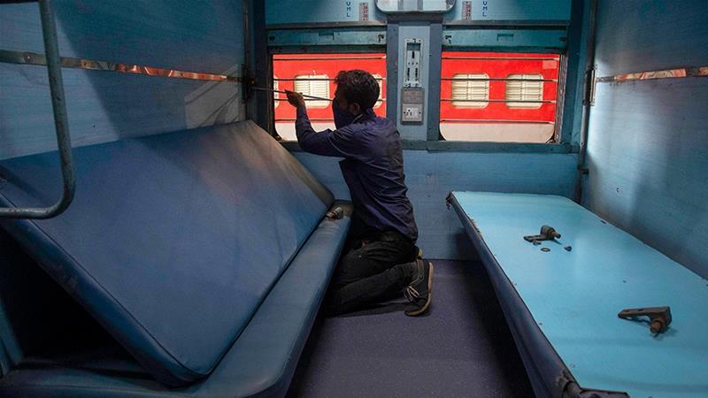 印度将火车车厢改造成隔离病房 征用酒店、疗养院