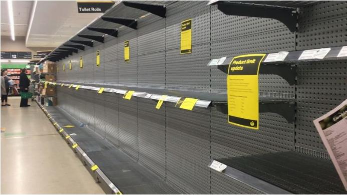 澳大利亚再现恐慌性抢购 超市无奈限购卫生纸和肉类