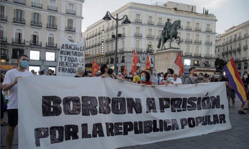 西班牙抗议者游行现场(图源:路透社)