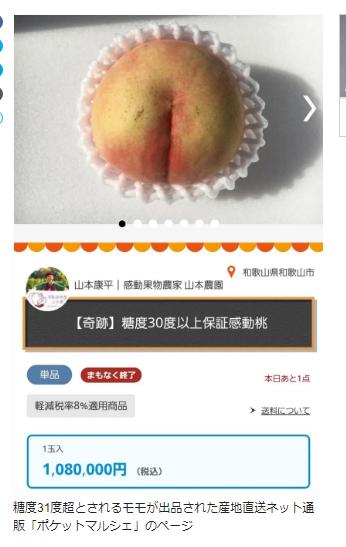 单价过百万的日本天价桃开卖 农户:保你吃一口就感动