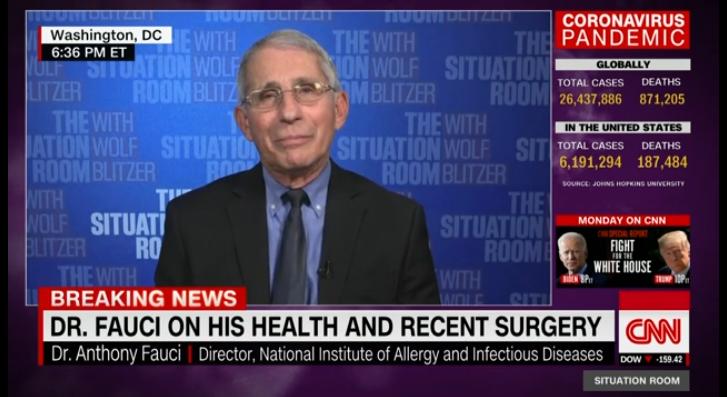 福奇警告:若美国疫苗进程受政治干预 定会大声疾呼