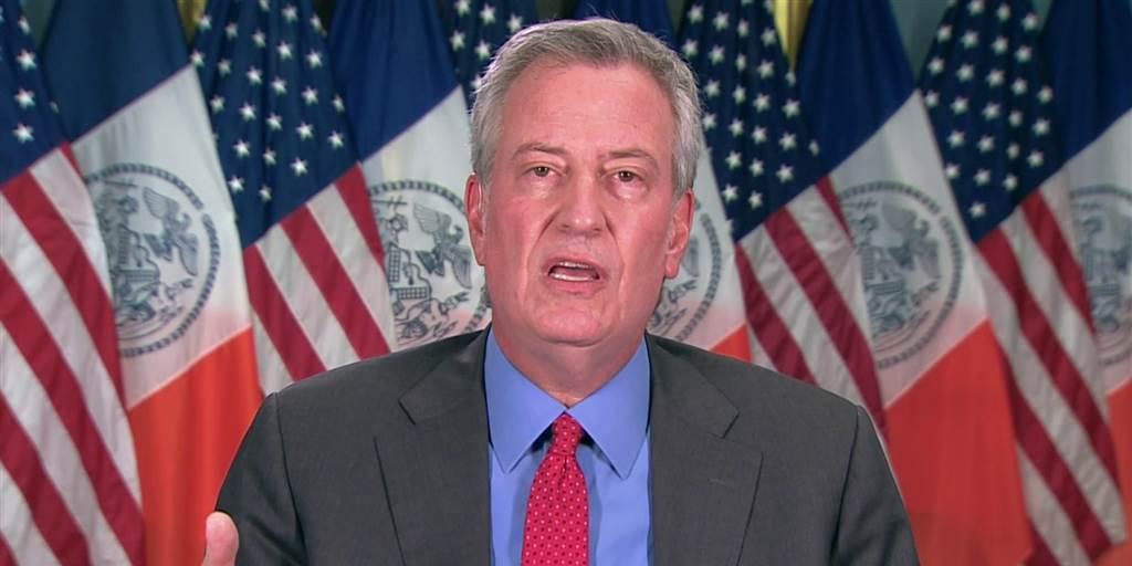 纽约市长称要把特朗普告上法庭。(图源:CNBC)
