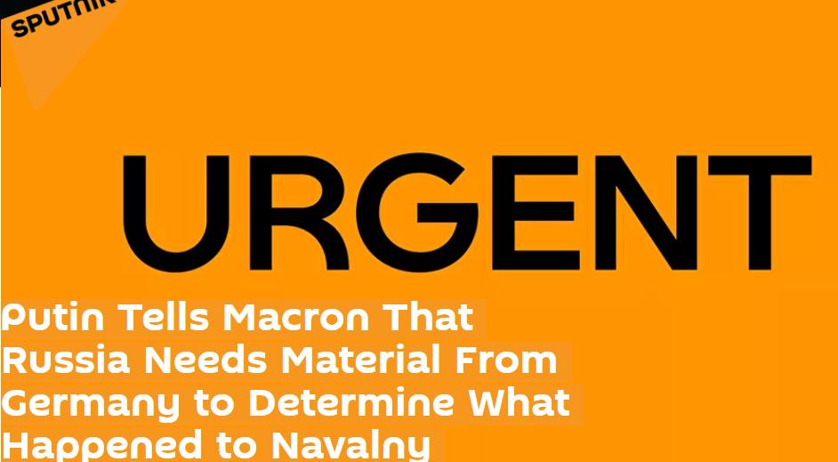 普京与马克龙通话 要求德国提供纳瓦利内检查报告