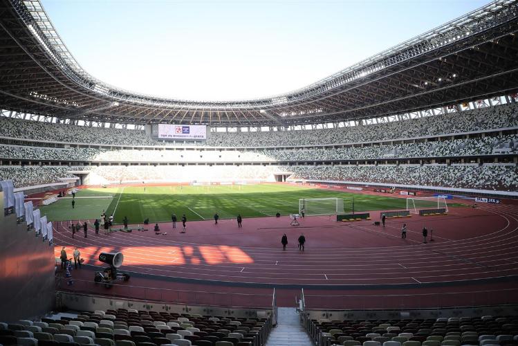 日本东京奥运会主场馆内部(产经新闻)