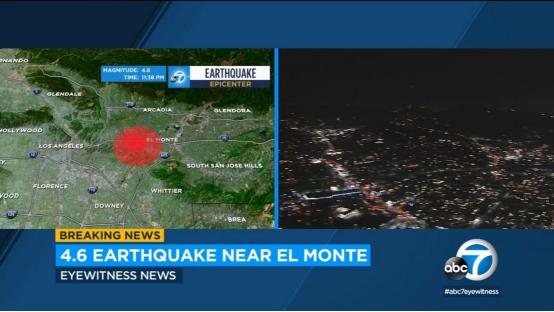 加州发生4.5级地震 美地震学家:或为更大地震的前震