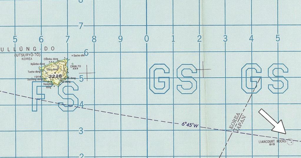 """日本智库发现:美政府航空图首次明示独岛是""""日本领土"""""""