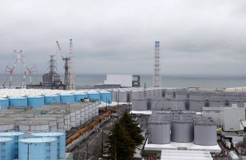 福岛核电站内的储存设施(路透社)