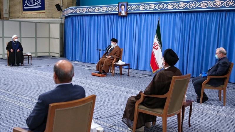 """哈梅内伊呼吁伊朗""""合作、统一与团结""""。(图源:今日帕尔斯)"""