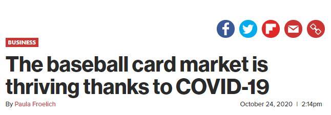 新冠疫情期间 棒球卡市场正蓬勃发展