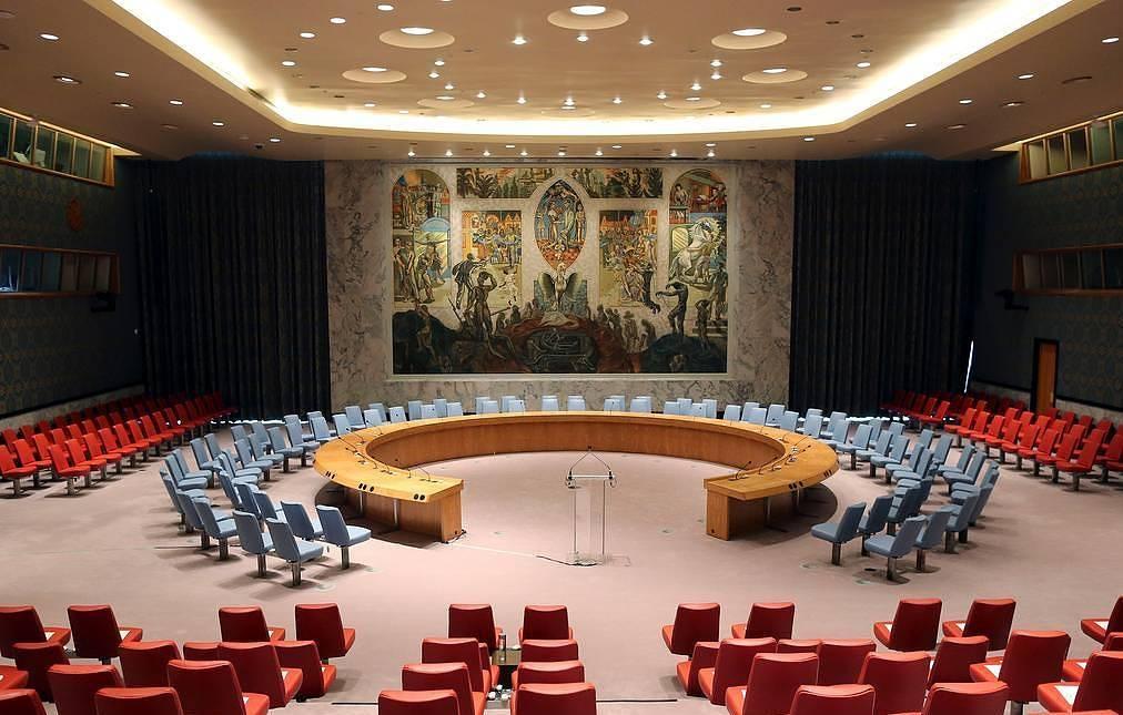 资料图:联合国安理会议场。(美联社)