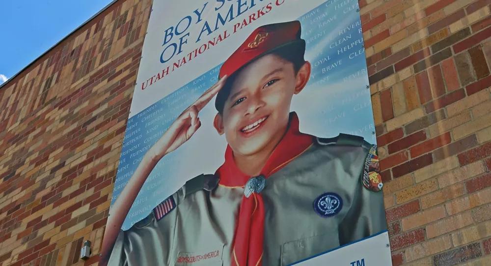 资料图:美国童军海报。(法新社)