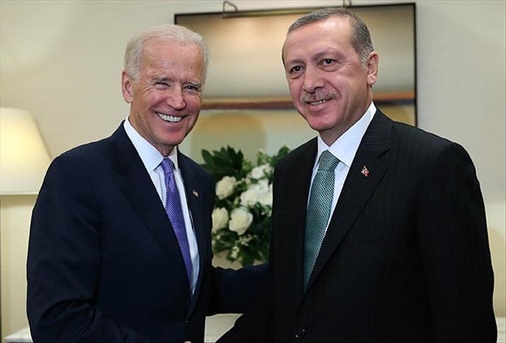 资料图:拜登与土耳其总统埃尔多安(阿纳多卢通讯社)