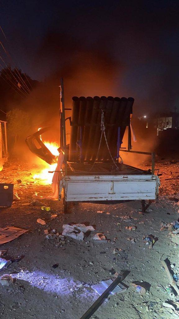 伊拉克部队发现击中巴格达的火箭发射器(伊拉克库尔德斯坦电视台)