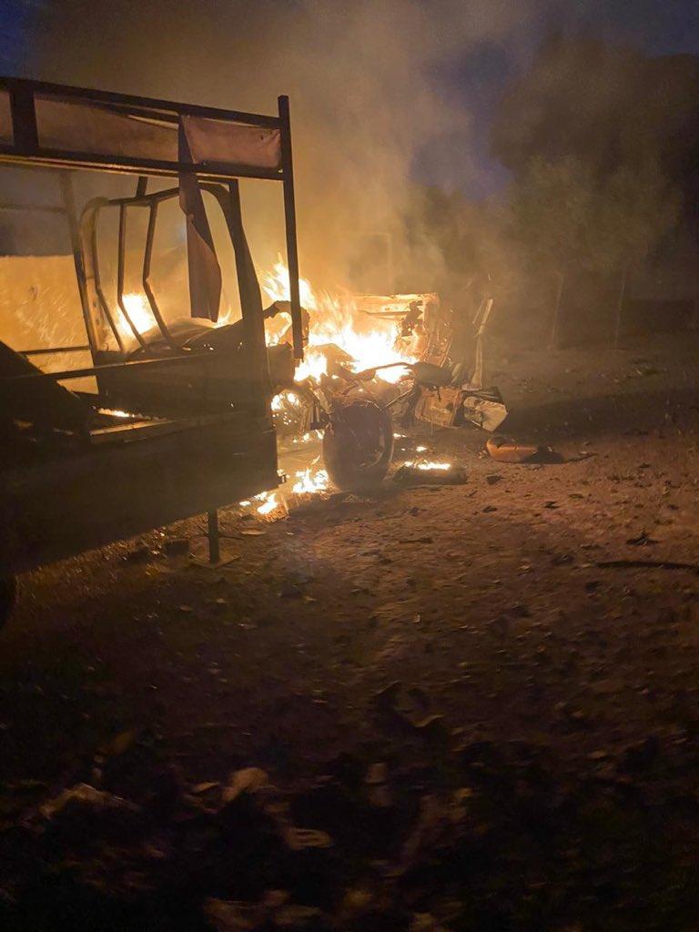 美国宣布撤军之际,伊拉克遭火箭弹袭击,炮弹落在美使馆附近