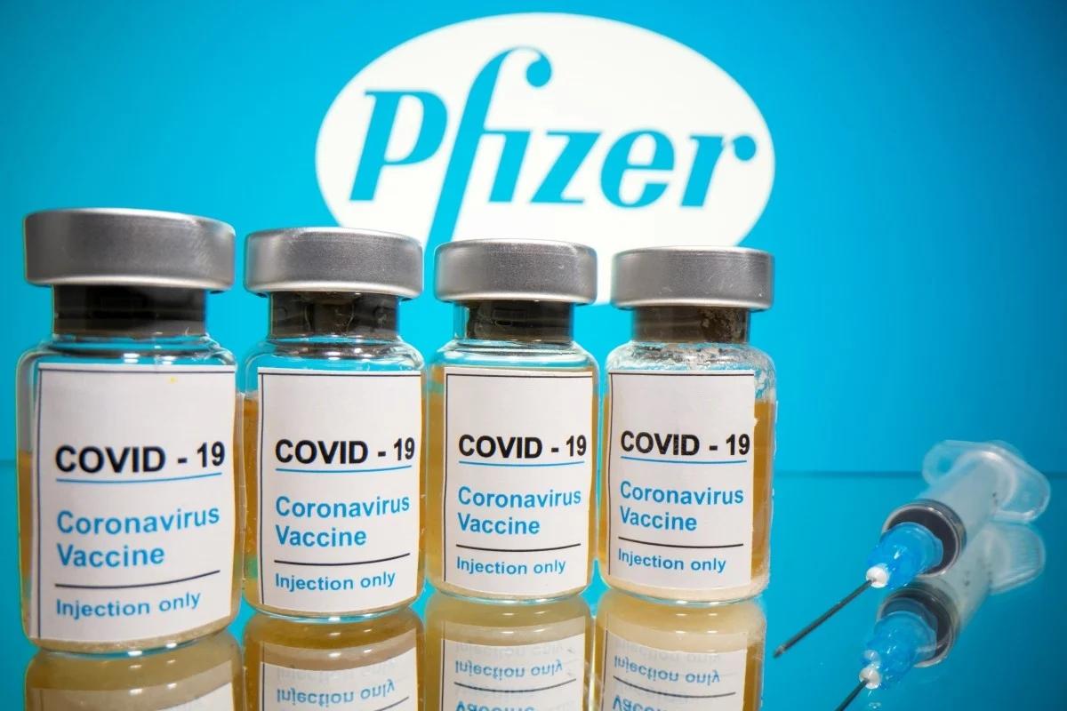 辉瑞研发的新冠疫苗。(图源:路透社)