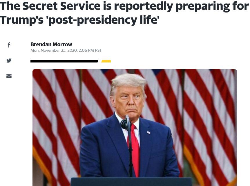 美媒曝特勤局正为特朗普卸任做准备