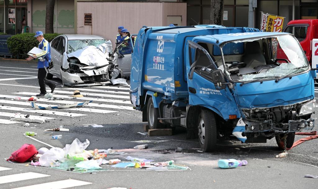 日本一名87岁男子引发的交通事故(产经新闻)