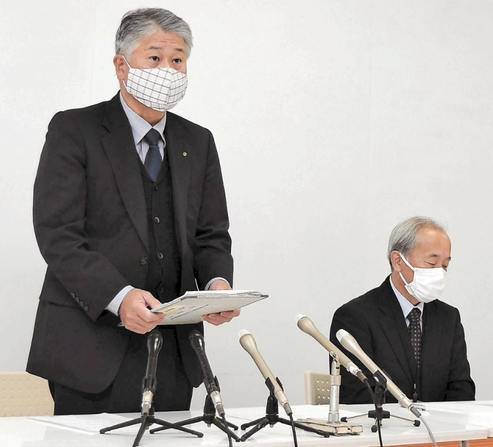 宫城县白石市市长确诊后,副市长召开记者会进行说明(河北新报)