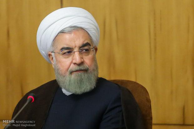 伊朗总统鲁哈尼发表讲话(伊朗迈赫尔新闻社)