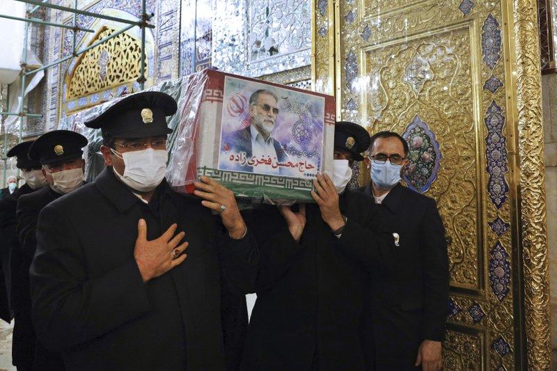 伊朗为遇害核科学家举行葬礼 国防部长出席