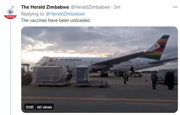 津巴布韦《先驱报》推特截图