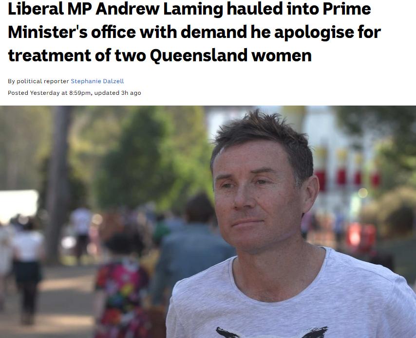 澳大利亚男议员丑闻震惊莫里森:长期网暴女性 还躲灌木丛偷拍