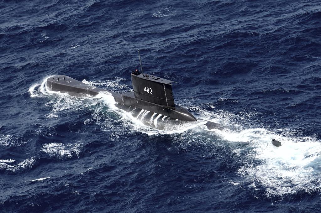 """印尼海军""""南伽拉""""号潜艇资料图"""