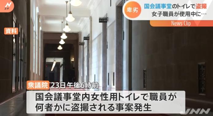 日本国会女厕遭偷拍:女职员当场发现 嫌犯逃走下落不明