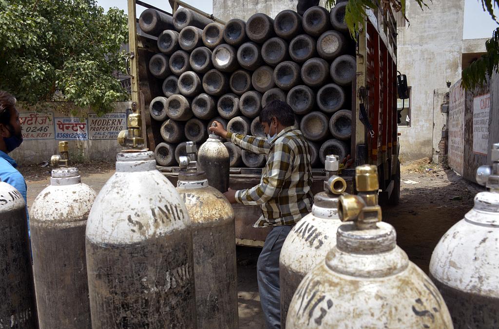 疫情下印度氧气资源紧缺(资料图)