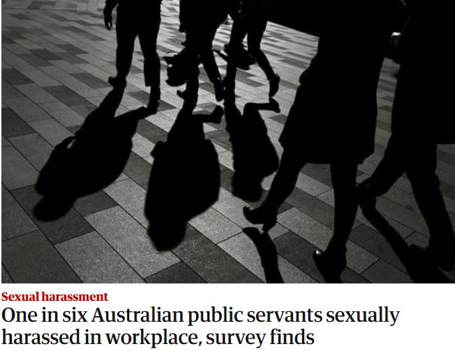 研究:澳大利亚六分之一公务员遭遇职场性骚扰