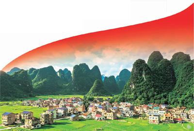 2020年5月25日,广西环江毛南族自治县重楼村,夏日田园绿意盎然。