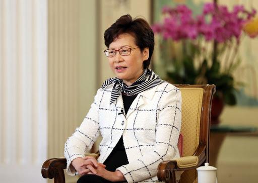 香港特区行政长官林郑月娥(图源:新华社)