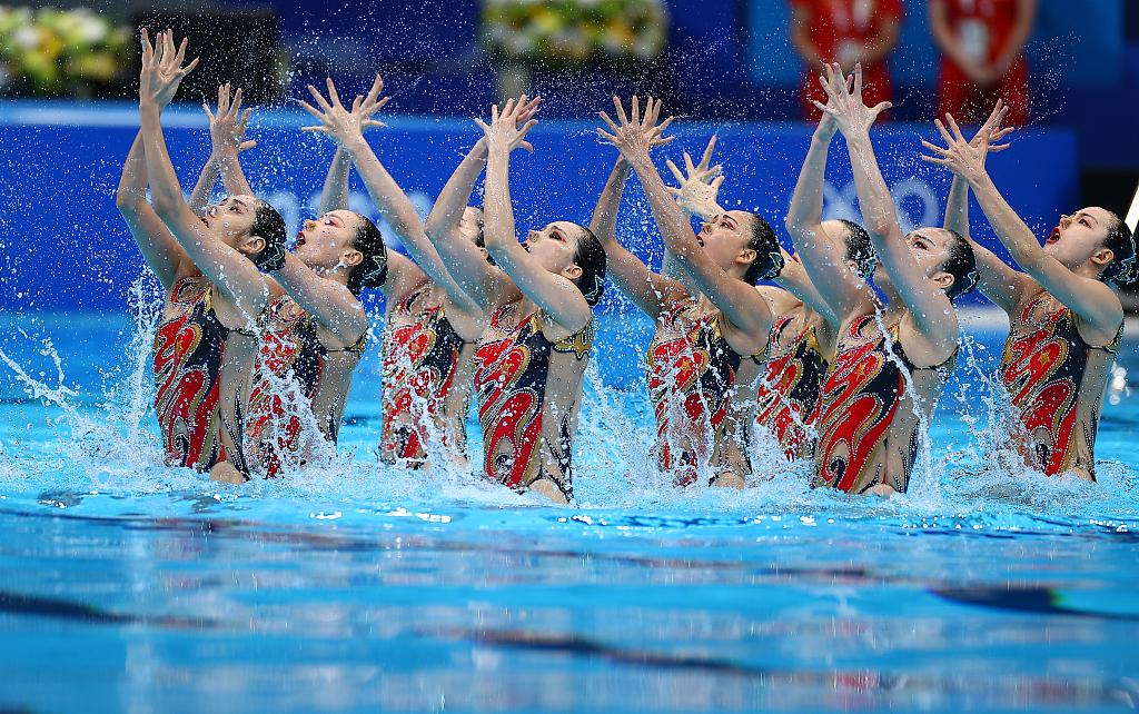 再添一枚奖牌!中国队夺得花样游泳集体自由自选银牌
