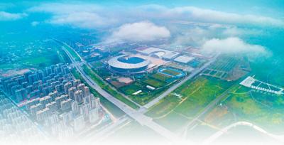 7月13日,从空中俯瞰河北自贸试验区正定片区。河北自贸试验区正定片区自挂牌以来,持续优化营商环境,加快打造高质量发展新高地。武志伟摄(人民视觉)