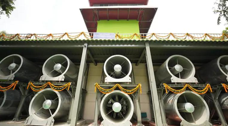 印度耗巨资打造的空气净化塔