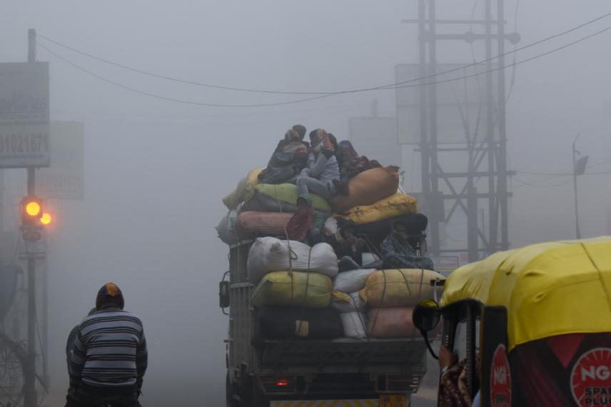 印度加尔各答的雾霾