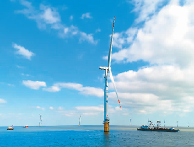 华能如东海上风电风机。华能集团供图