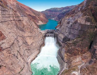 乌东德水电站首批机组投产发电。中国能建葛洲坝集团供图